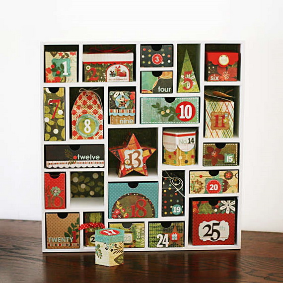 Fun Christmas Crafts With 50 Great Homemade Advent Calendars Ideas_07