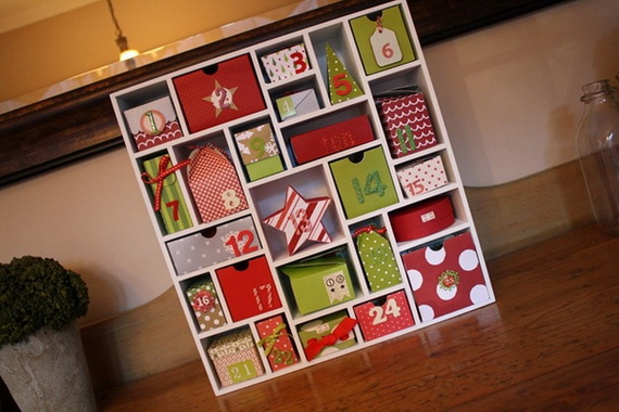 Fun christmas crafts with 50 great homemade advent How to build a wooden advent calendar
