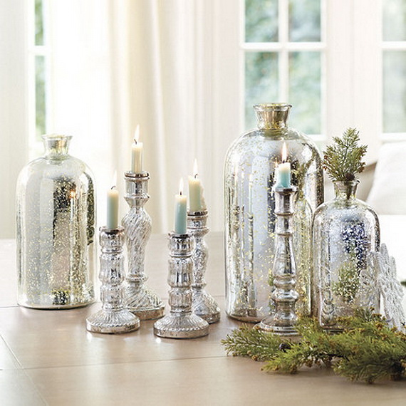 Decorative Colored Glass Bottles Fascinating Glamorous And Affordable Mercury Glass Decor For Special Occasions Review