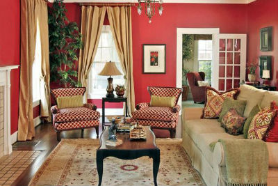 Hot Valentine Room Designs in Rich and Energetic Red Colors