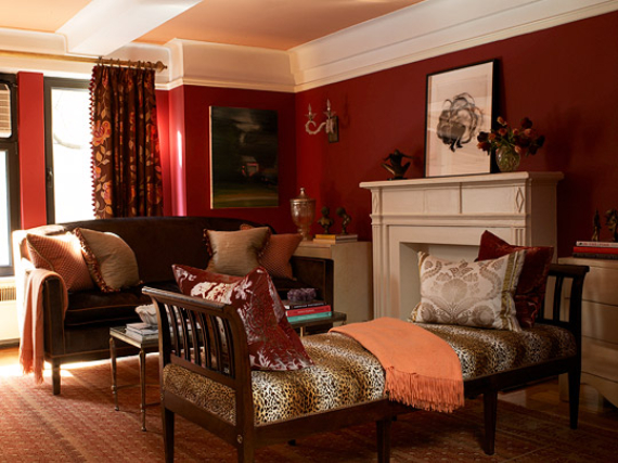 Hot Valentine Room Designs in Rich and Energetic Red Colors   (25)