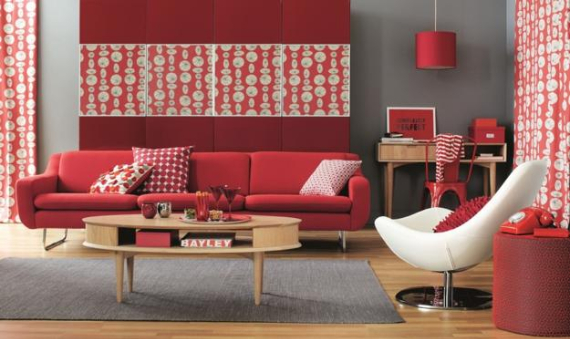 Hot Valentine Room Designs in Rich and Energetic Red Colors   (3)