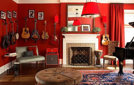 Hot Valentine Room Designs in Rich and Energetic Red Colors   (51)