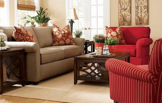 Hot Valentine Room Designs in Rich and Energetic Red Colors   (54)