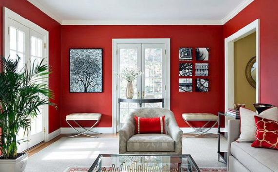 Hot Valentine Room Designs in Rich and Energetic Red Colors   (55)