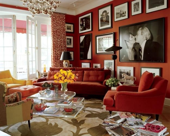 Hot Valentine Room Designs in Rich and Energetic Red Colors   (56)