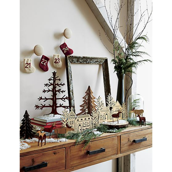 cool christmas decorations at crate and barrel family to family holidays on. Black Bedroom Furniture Sets. Home Design Ideas