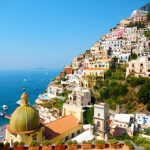 Enjoy The Breathtaking View Of Town Amalfi, Italy