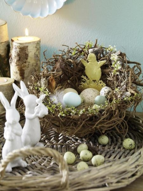 50 beautiful ideas for the spirit of easter and spring for Easter home decorations