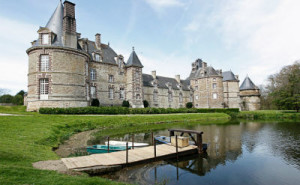 Dreamy Chateau de Normandy Surrounded by a Moat- Cherbourg France 1