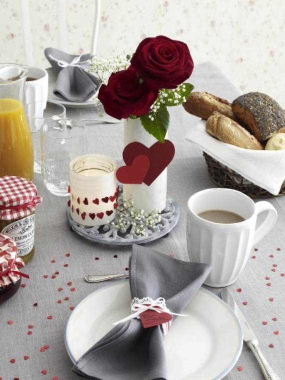 Floral Table Decoration For A Romantic Valentine's Day (8)