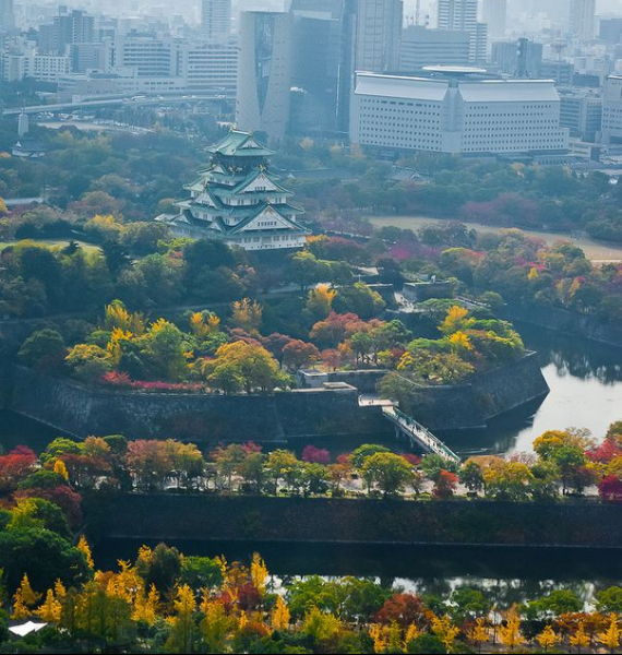 The Harmony and Beauty outside the Osaka Castle Japan (12)