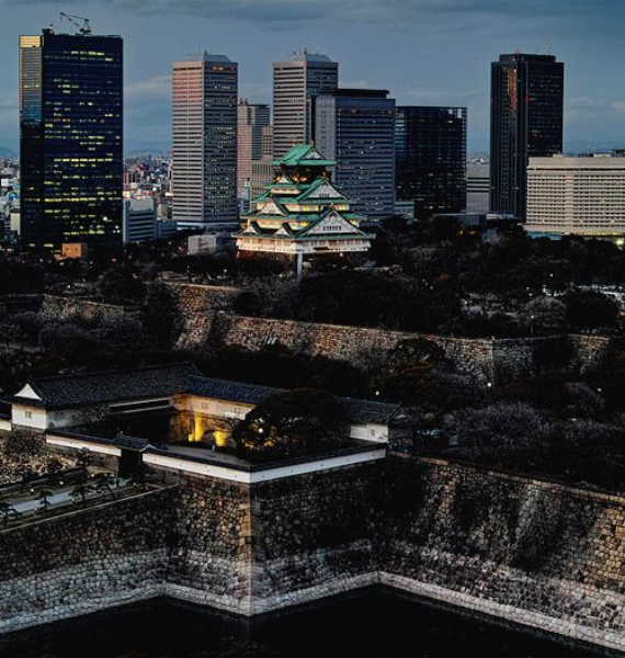 The Harmony and Beauty outside the Osaka Castle Japan (16)