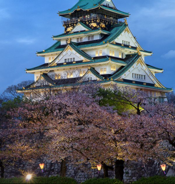 The Harmony and Beauty outside the Osaka Castle Japan (22)