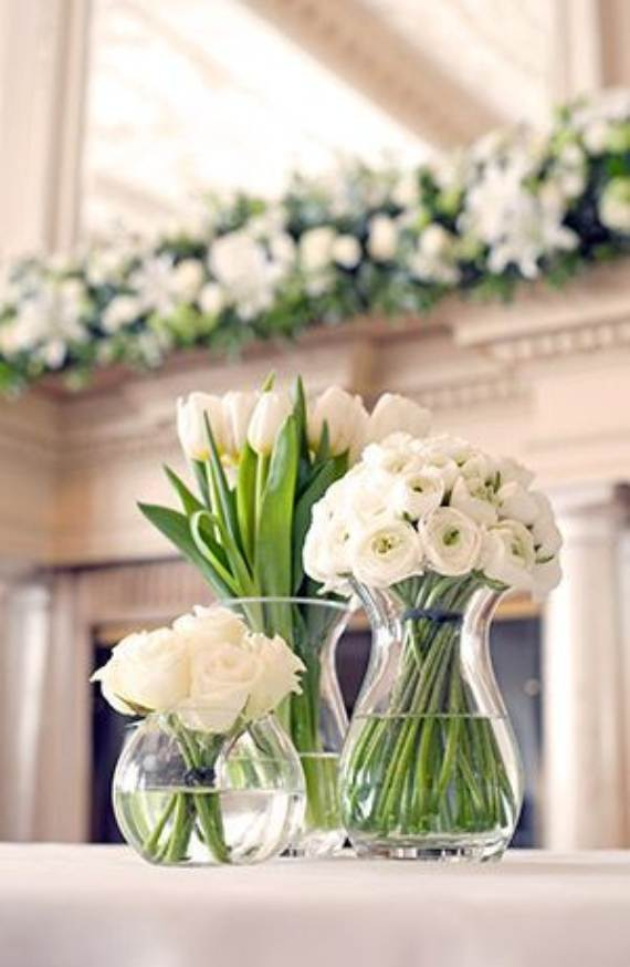 Simple spring flower arrangements table centerpieces