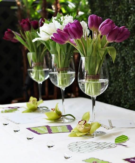 35 simple spring flower arrangements table centerpieces Simple flower decoration ideas