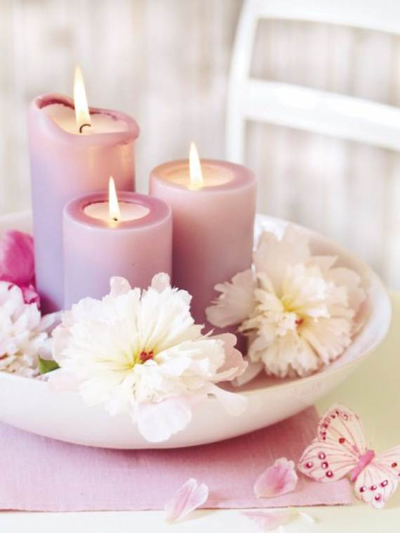 55 Decorative Candles and Flowers, Cute Mothers Day Gift Ideas ...