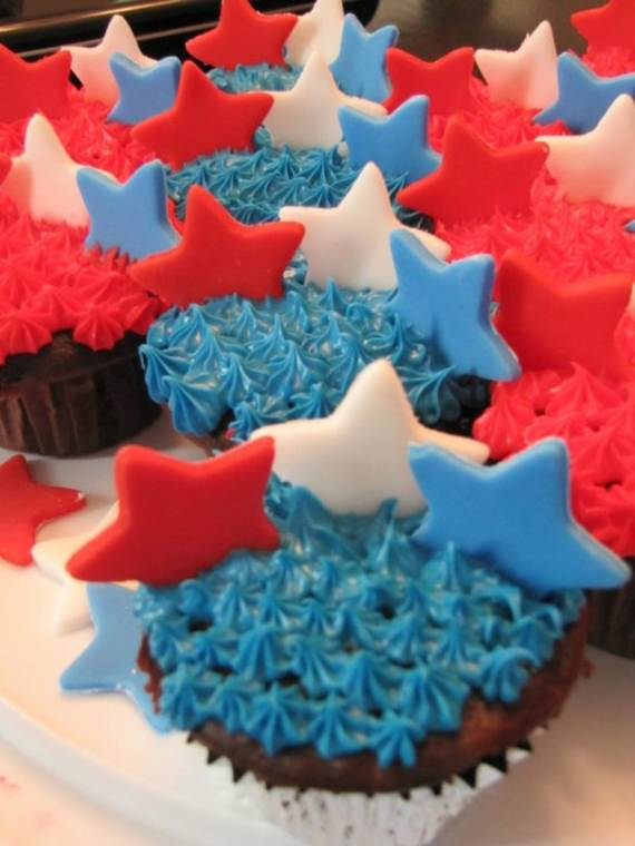 Labor Day Cupcake Decorating Ideas