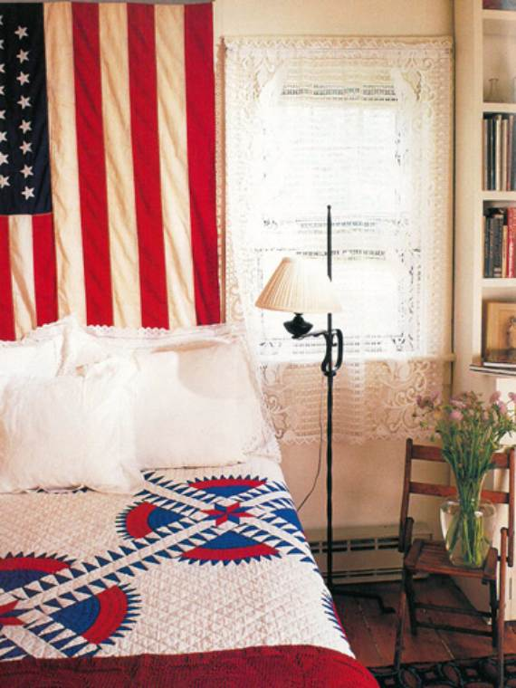 45 amazing 4th july decoration ideas for your home for Americana bedroom ideas