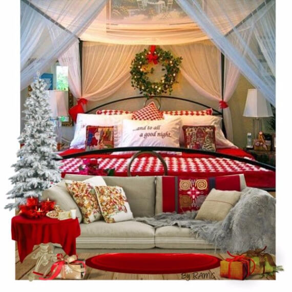 45 elegant and stylish holiday bedding ideas for a for Christmas room ideas