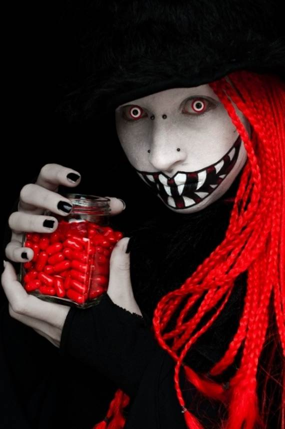 30 Best Scary Halloween Makeup IdeasCreepy Spooky and - Creepy Makeup Ideas