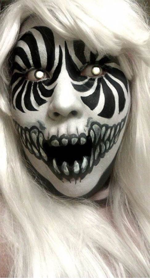 best scary halloween makeup ideas 4 - Scary Faces For Halloween With Makeup