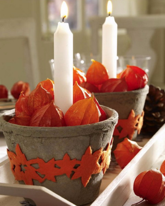 Cool Orange Fall &Thanksgiving Decorating Ideas with Chinese Lanterns  (14)