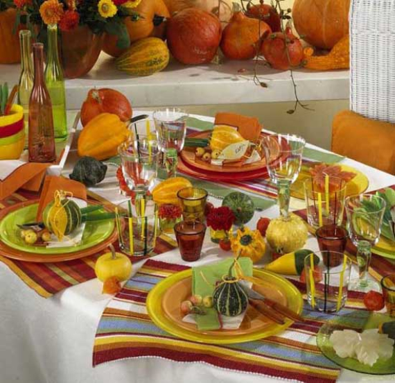 25 Cool Orange Fall Thanksgiving Decorating Ideas With