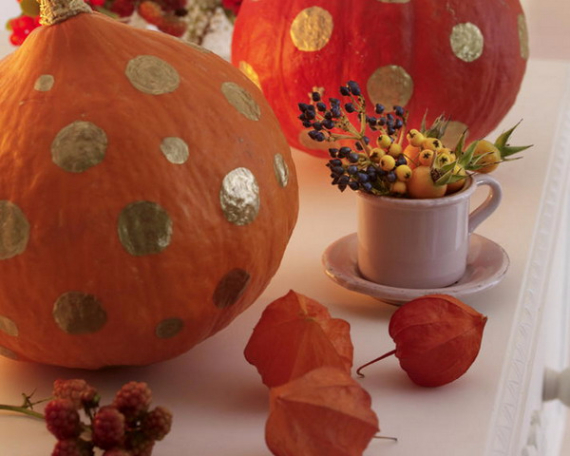 Cool Orange Fall &Thanksgiving Decorating Ideas with Chinese Lanterns  (18)