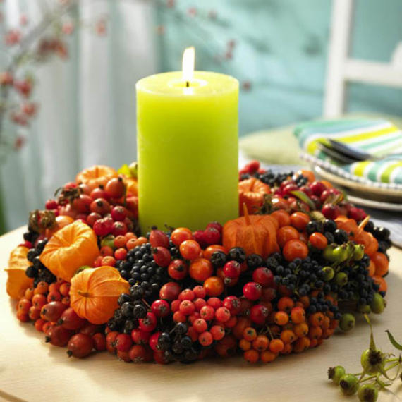 Cool Orange Fall &Thanksgiving Decorating Ideas with Chinese Lanterns  (24)