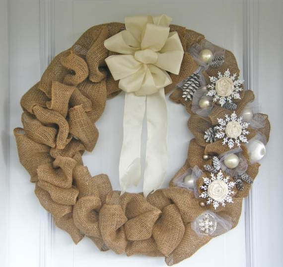 DIY Burlap Wreath ideas for every holiday and season - family holiday.net/guide to family ...