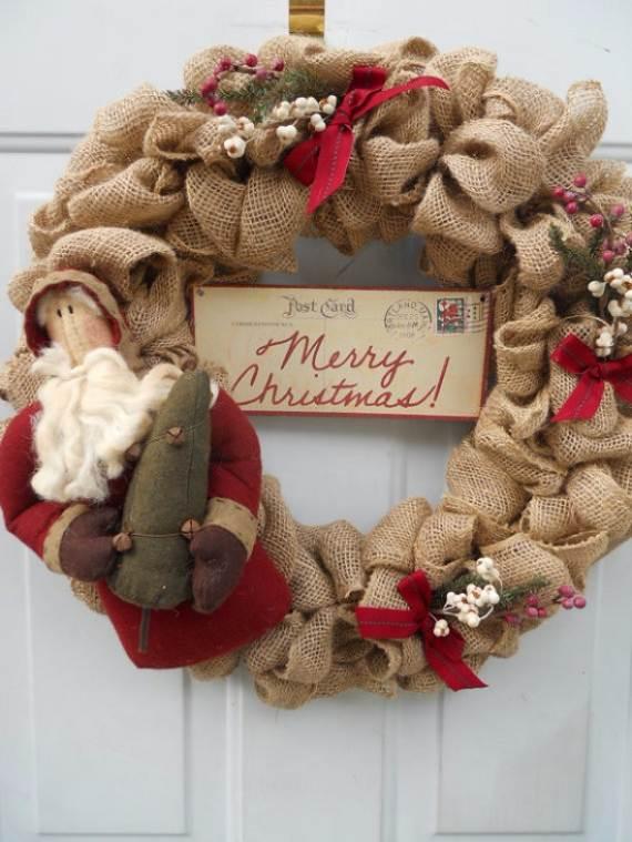 diy burlap wreath ideas for every holiday and - Christmas Burlap Wreath