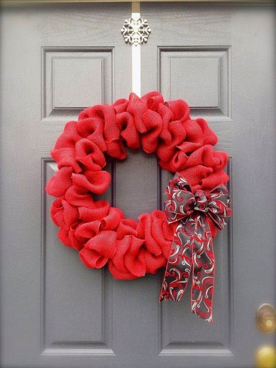 Burlap Craft Ideas For Christmas Part - 48: DIY-Burlap-Wreath-ideas-for-every-holiday-and-