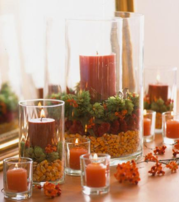 Easy and elegant festive thanksgiving decorating