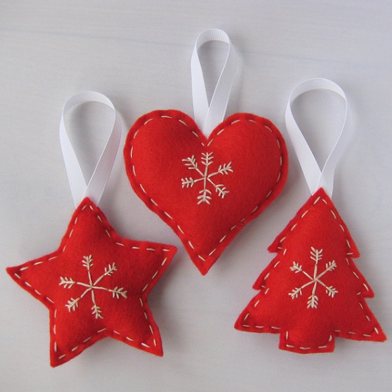 homemade felt christmas ornament 1 - Christmas Decoration Crafts