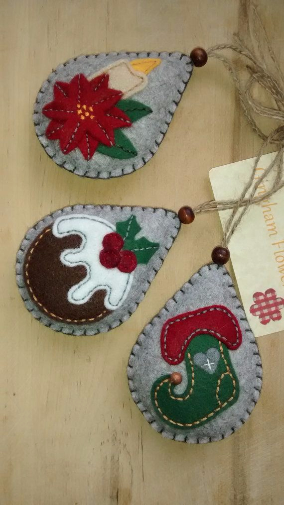 39 cute homemade felt christmas ornament crafts to trim for Cute christmas decorations
