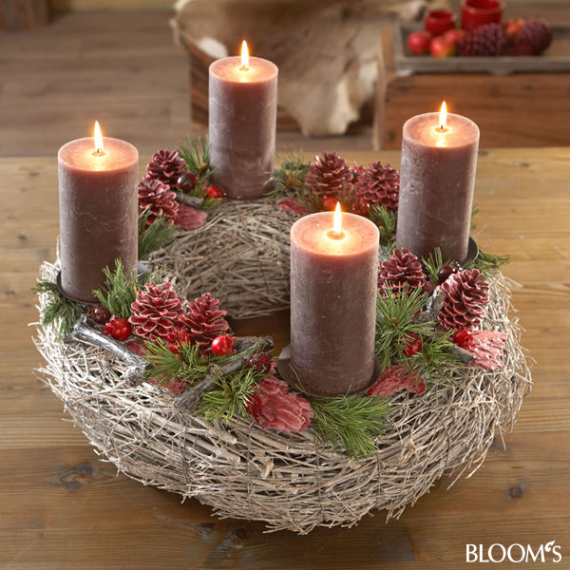 Advent candles ideas for the perfect christmas decoration for Pinterest advent