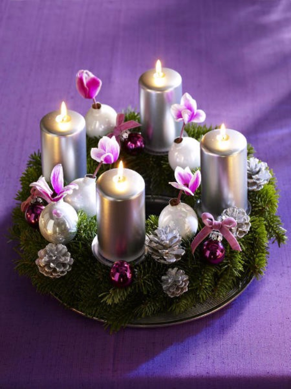 41 fresh christmas decorating ideas advent wreath candles. Black Bedroom Furniture Sets. Home Design Ideas
