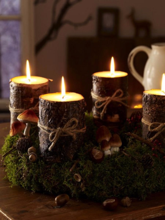 41 Fresh Christmas Decorating Ideas-Advent wreath candles ...