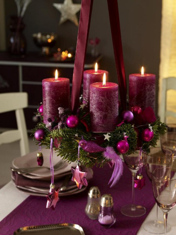 41 fresh christmas decorating ideas advent wreath candles for Advent decoration ideas