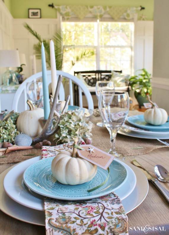 Coastal-Thanksgiving-Table-3 & 27 Inspiring Coastal Thanksgiving Table Setting and Centerpiece ...