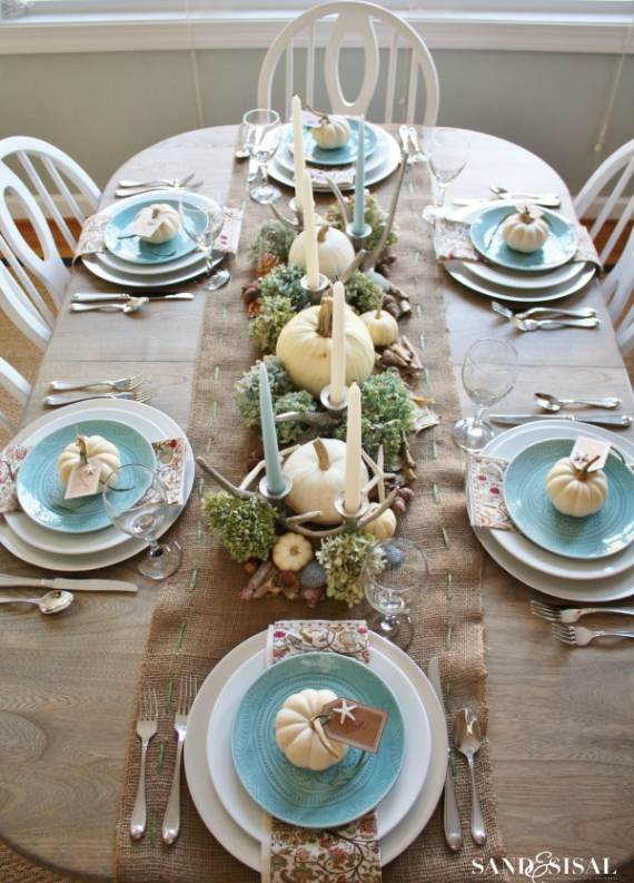 Coastal-Thanksgiving-Table-4 & 27 Inspiring Coastal Thanksgiving Table Setting and Centerpiece ...