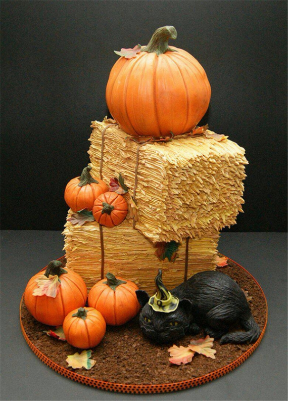 Cute & Non scary Halloween Cake Decorations (22)