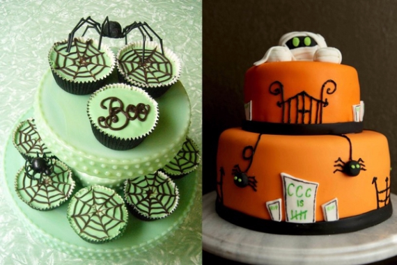 Cute & Non scary Halloween Cake Decorations (23)