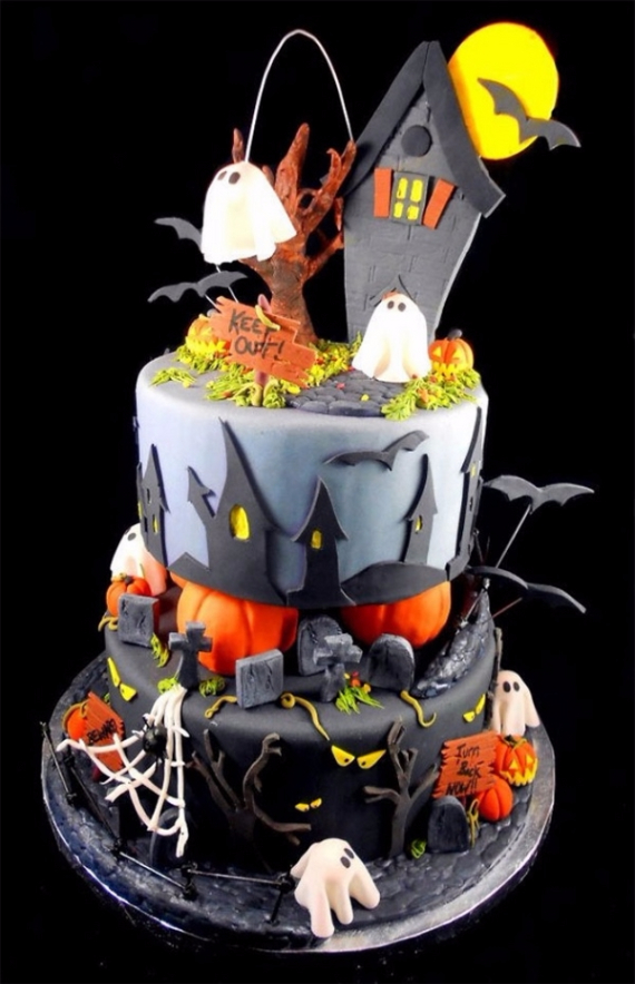 Cute & Non scary Halloween Cake Decorations (24)