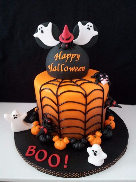 Cute & Non scary Halloween Cake Decorations (29)