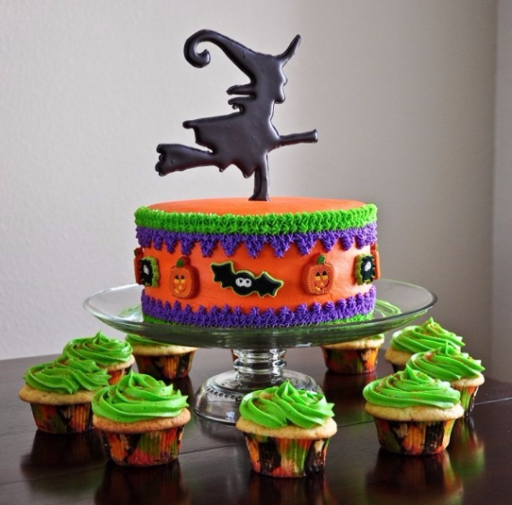 Cute & Non scary Halloween Cake Decorations (32)