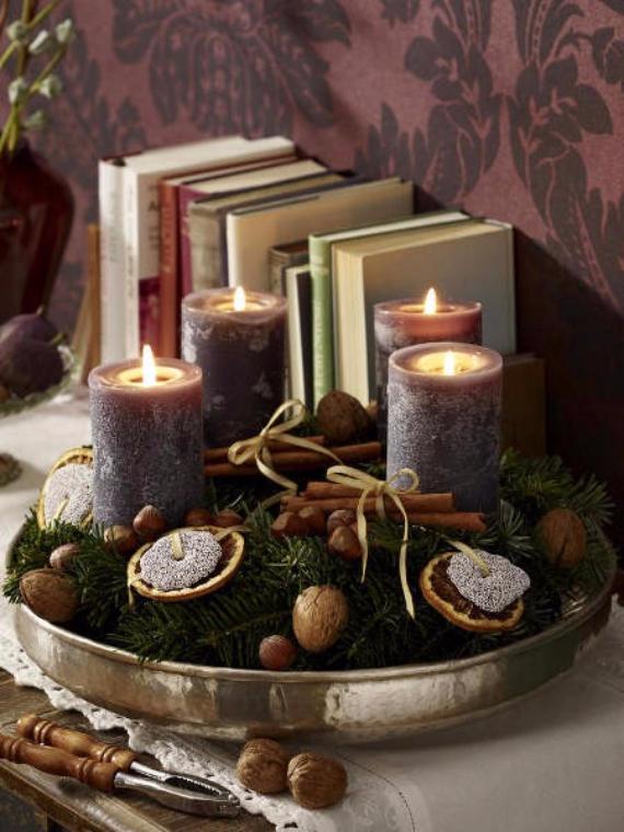 35 creative christmas decoration diy advent wreath ideas. Black Bedroom Furniture Sets. Home Design Ideas