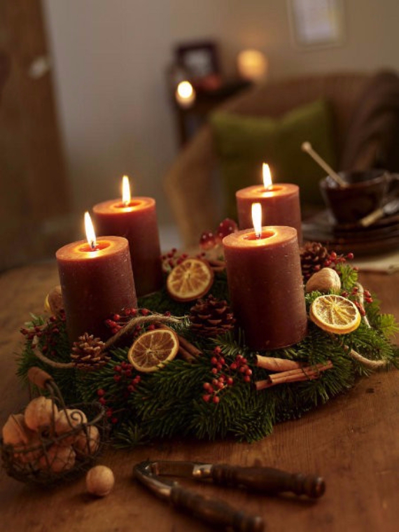 35 Creative Christmas Decoration – DIY Advent Wreath Ideas ...
