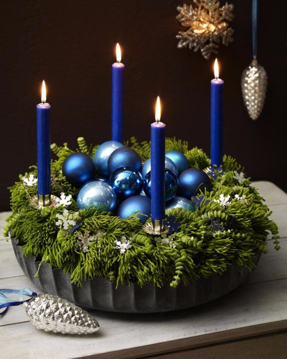 35 creative christmas decoration diy advent wreath ideas. Black Bedroom Furniture Sets. Home Design Ideas